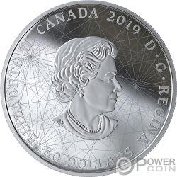 ROSE OF THE WINDS Роза Ветров Золотое Покрытие 5 Oz Серебряная Монета 50$ Канада 2019