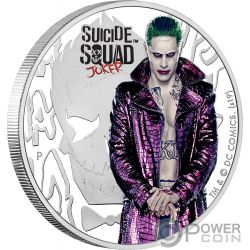 JOKER Suicide Squad DC Comics 1 Oz Moneda Plata 1$ Tuvalu 2019