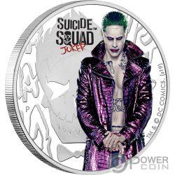 JOKER Suicide Squad DC Comics 1 Oz Silber Münze 1$ Tuvalu 2019