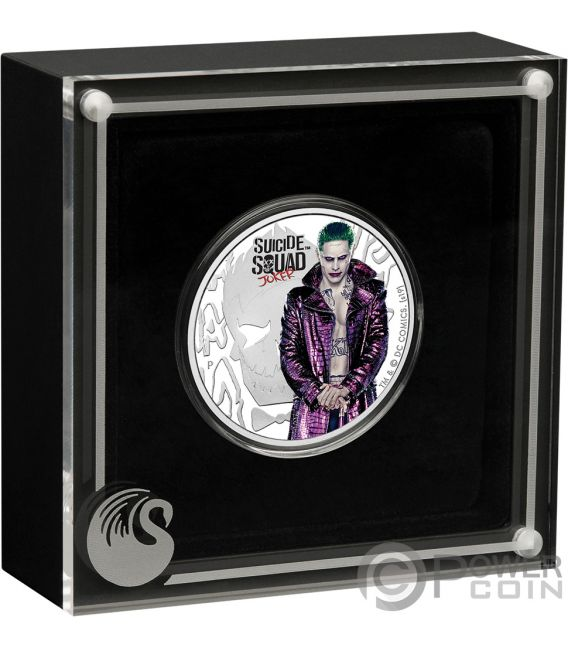 JOKER Suicide Squad DC Comics 1 Oz Silver Coin 1$ Tuvalu 2019
