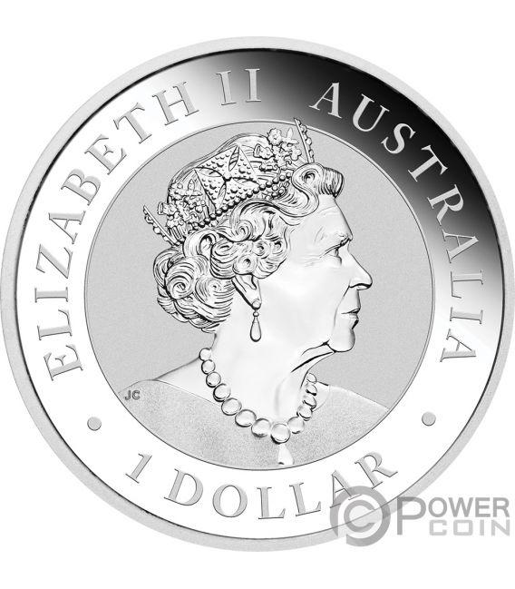 KANGAROO Gold Plating 1 Oz Silver Coin 1$ Australia 2019