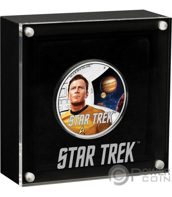 CAPTAIN KIRK Star Trek Original 1 Oz Silver Coin 1$ Tuvalu 2019