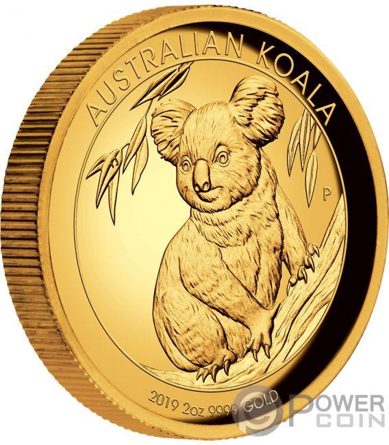 Australian Koala 2 Oz Gold Coin 200 Australia 2019 Power Coin
