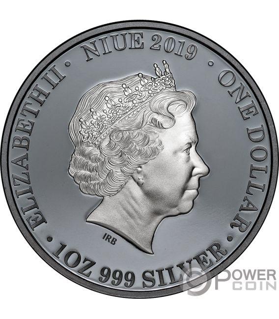 KANGAROO Australia at Night 1 Oz Silver Coin 1$ Niue 2019