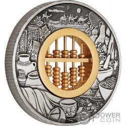 ABACUS Abaco 2 Oz Moneda Plata 2$ Tuvalu 2019