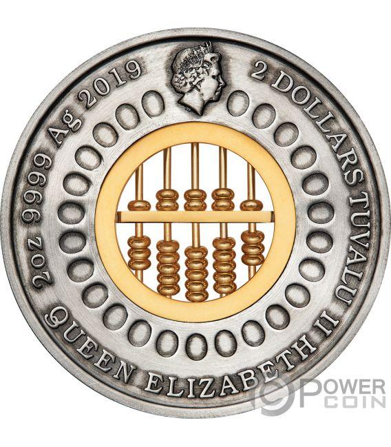 ABACUS Abakus 2 Oz Silber Münze 2$ Tuvalu 2019