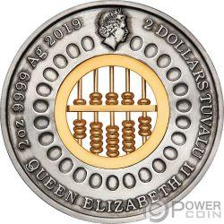 ABACUS Abaco 2 Oz Moneta Argento 2$ Tuvalu 2019