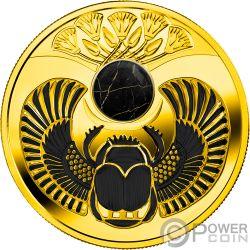 ONYX SCARABAEUS Ancient Symbol Moneta Argento 1$ Niue 2019