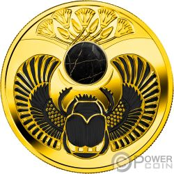 ONYX SCARABAEUS Ancient Symbol Silber Münze 1$ Niue 2019