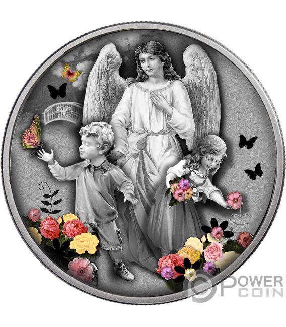 ATTENDANT ANGEL Ангел Хранитель Монета Серебро 1$ Ниуэ 2019