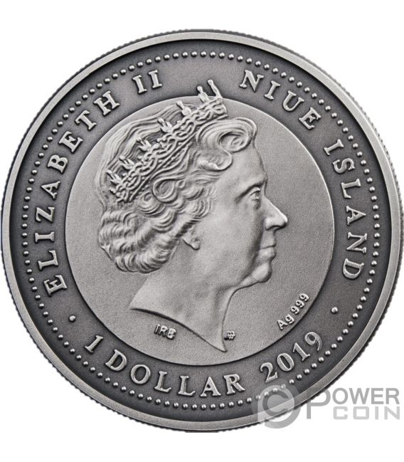 ATTENDANT ANGEL II Silver Coin 1$ Niue 2019
