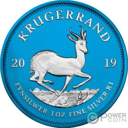 KRUGERRAND Space Blue 1 Oz Silver Coin 1 Rand South Africa 2019