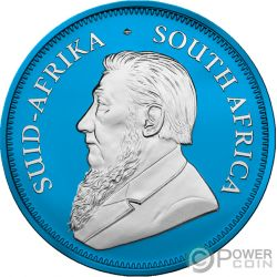 KRUGERRAND Space Blue 1 Oz Moneda Plata 1 Rand South Africa 2019