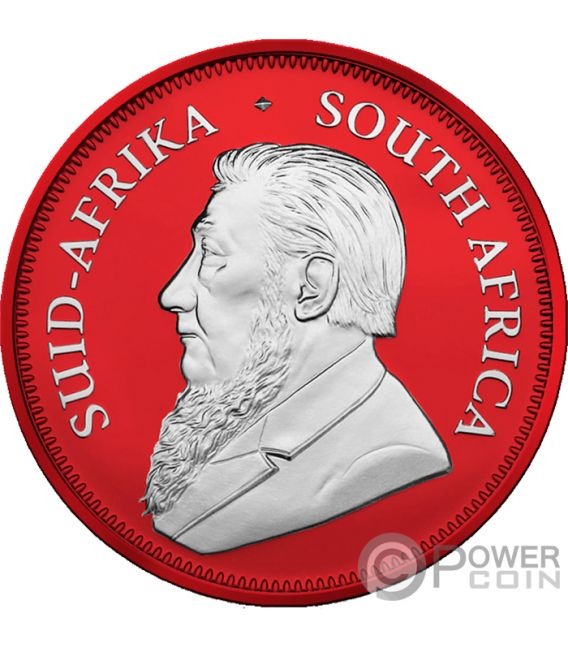 KRUGERRAND Красное Пространство 1 Oz Монета Серебро 1 Ренд Южно-Африканская Республика 2019