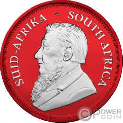 KRUGERRAND Space Red 1 Oz Moneta Argento 1 Rand South Africa 2019