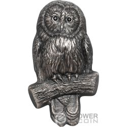 URAL OWL Buho 2 Oz Moneda Plata 1000 Togrog Mongolia 2019