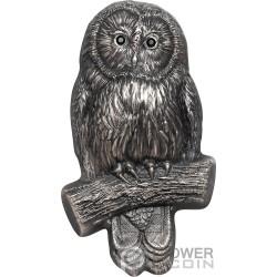 URAL OWL Gufo 2 Oz Moneta Argento 1000 Togrog Mongolia 2019