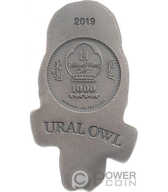 URAL OWL 2 Oz Silver Coin 1000 Togrog Mongolia 2019