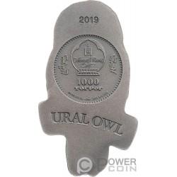 URAL OWL Сова 2 Oz Монета Серебро 1000 Тугрик Монголия 2019