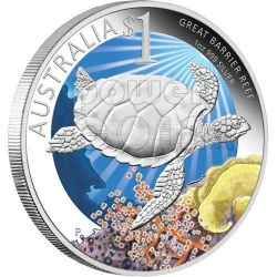 GRANDE BARRIERA CORALLINA Celebrate Australia Moneta Argento Proof 1$ 2011