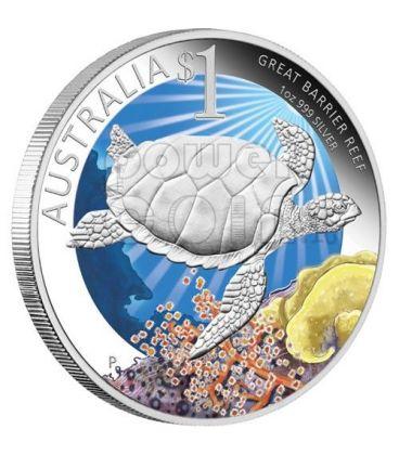 GRANDE BARRIERA CORALLINA Celebrate Australia Moneta Argento Proof 1$ 2011