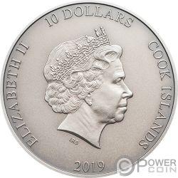 TALARIA Alato Hermes Мифология 2 Oz Монета Серебро 10$ Острова Кука 2019
