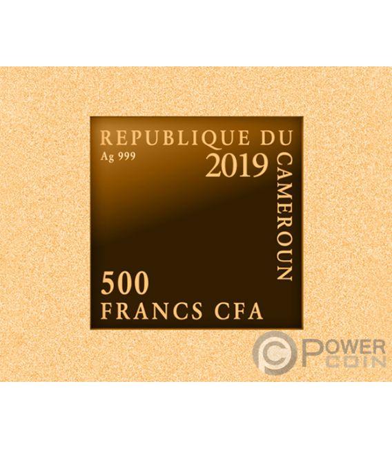 NIGHT WATCH Nacht Rembrandt Vergoldung Silber Münze 500 Franken Cameroon 2019