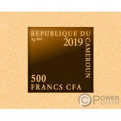 NIGHT WATCH Noche Rembrandt Chapado Oro Moneda Plata 500 Francos Cameroon 2019