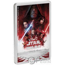 STAR WARS Letzten Jedi 1 Oz Silber Münze 2$ Niue 2019