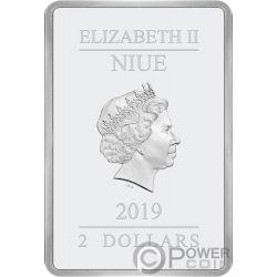 STAR WARS Last Jedi 1 Oz Silver Coin 2$ Niue 2019