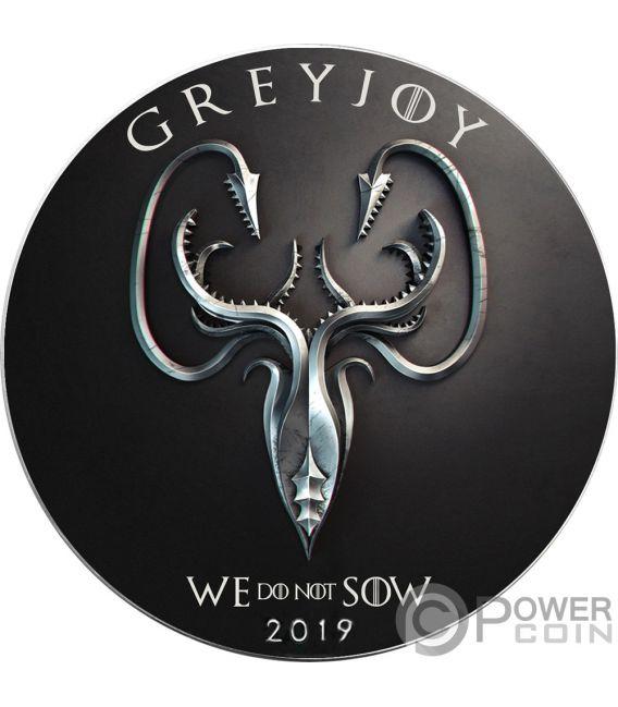 GREYJOY Game of Thrones GOT Walking Liberty 1 Oz Silver Coin 1$ USA 2019