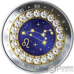 LEO Zodiac Swarovski Crystal Silber Münze 5$ Canada 2019