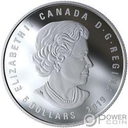 LEO Zodiac Swarovski Crystal Silver Coin 5$ Canada 2019