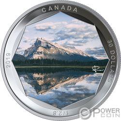 MOUNT RUNDLE Monte Foto Peter McKinnon 2 Oz Moneta Argento 30$ Canada 2019