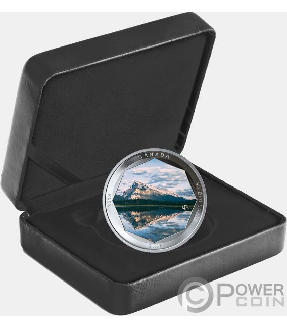 MOUNT RUNDLE Photo Peter McKinnon 2 Oz Silver Coin 30$ Canada 2019