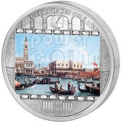 CANALETTO Bucentoro Bucintoro Venice 3 Oz Silber Münze 20$ Cook Islands 2011