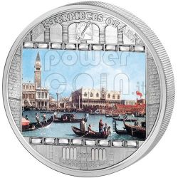 CANALETTO Bucentoro Bucintoro Venice 3 Oz Silver Coin 20$ Cook Islands 2011