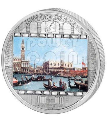 CANALETTO Bucentoro Bucintoro Venice 3 Oz Silver Coin 20$ Cook Islands 2011
