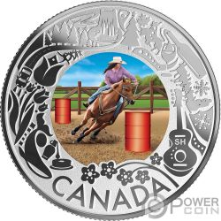 RODEO Cavallo Fun and Festivities Moneta Argento 3$ Canada 2019