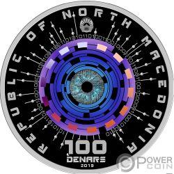 ARTIFICIAL INTELLIGENCE Монета Серебро 100 денар Македония 2019