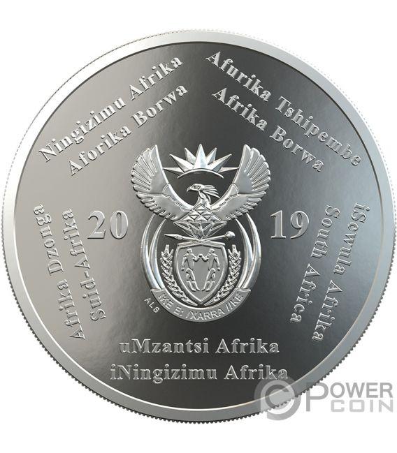 POLYMER PUTTY R2 Aterrizaje Luna 1 Oz Moneda Plata 2 Rand South Africa 2019