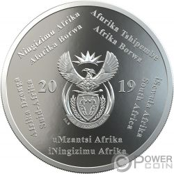 POLYMER PUTTY R2 Mondlandung 1 Oz Silber Münze 2 Rand South Africa 2019
