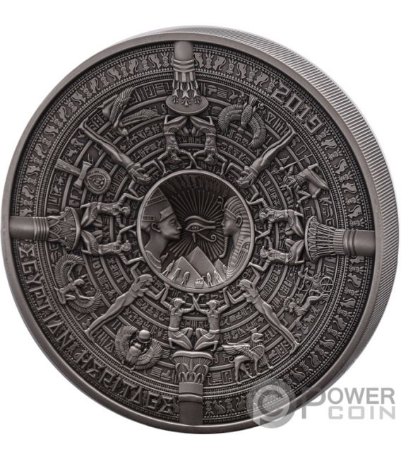 EGYPTIAN HERITAGE Multiple Layer 1 Kg Kilo Silber Münze 25$ Samoa 2019
