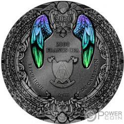 ARCHANGEL GABRIEL 2 Oz Серебро Монета 2000 Франков Камерун 2020