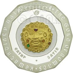 SATIR GOLD OF NOMADS Moneda Plata 500 Tenge Kazakhstan 2009