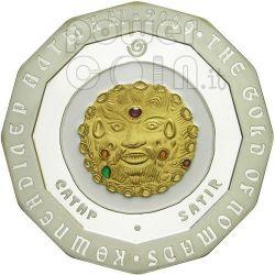 SATIRO ORO DEI NOMADI Moneta Argento 500 Tenge Kazakistan 2009