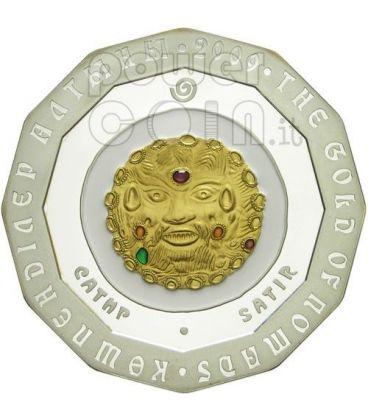 SATIR GOLD OF NOMADS Silver Coin 500 Tenge Kazakhstan 2009