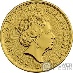 QUEEN VICTORIA 200 Jahrestag Britannia Gilded 1 Oz Silber Münze 2£ Pound United Kingdom 2019