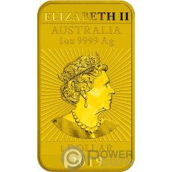 DRAGON Drago Colorata 1 Oz Moneta Argento 1$ Australia 2019
