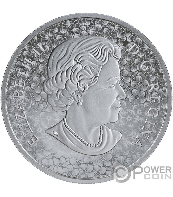 FORGET ME NOT Flor 1 Oz Moneda Plata 20$ Canada 2019